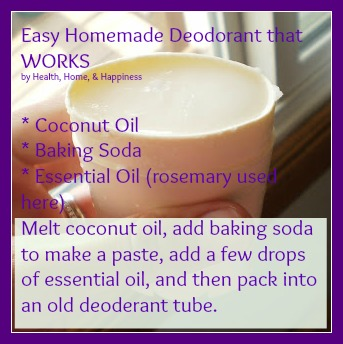 homemade deoderant