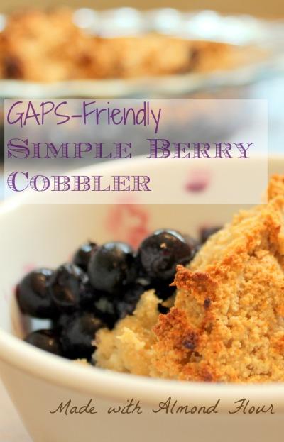 Grain Free Berry Cobbler GAPS friendly