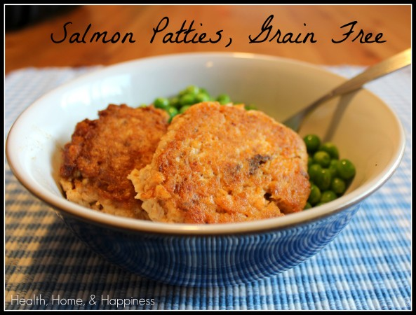 Salmon patties - grain free
