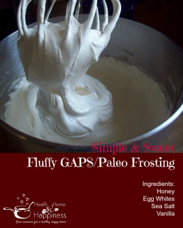 Egg white frosting for GAPS or Paleo