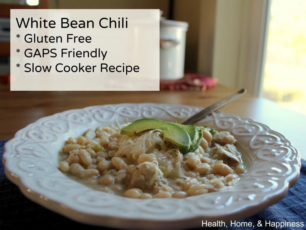 White Bean Chicken Chili - gluten free, GAPS Legal