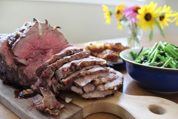 Garlic Studded Lamb Roast - paleo GAPS SCD