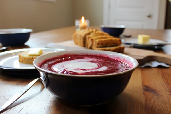 Beet soup - hot or cold - health home and happiness