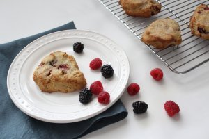Grain Free Berry Scones made with Almond Flour