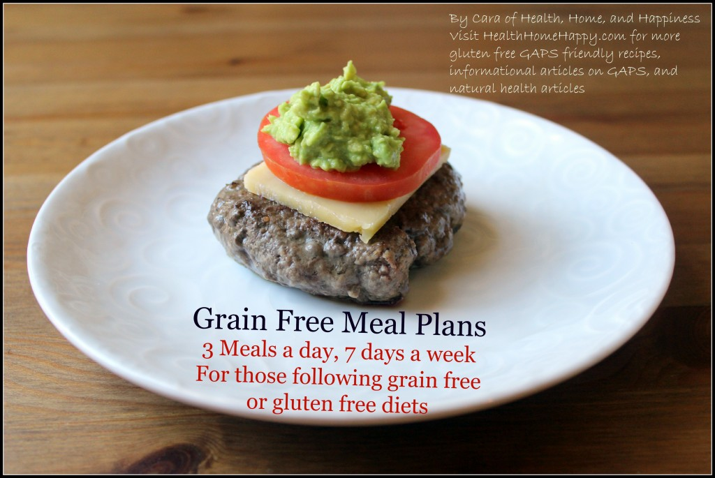 Grain Free Meal Plans