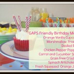 GAPS Birthday Party menu