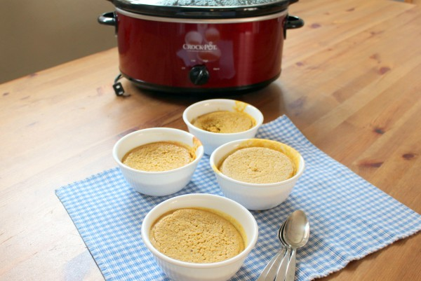 dairy free pumpkin custard in the crockpot