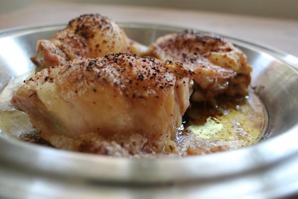 Easy lemon-pepper roasted chicken