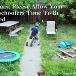 Allow preschoolers time to be bored