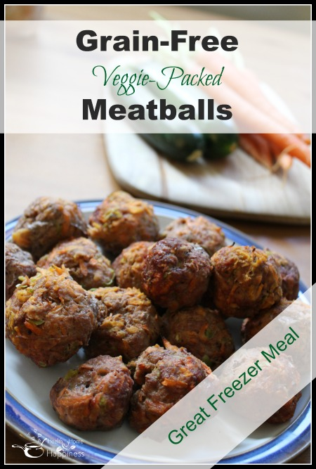 Grain-Free Veggie Packed Meatballs - Great Freezer Meal