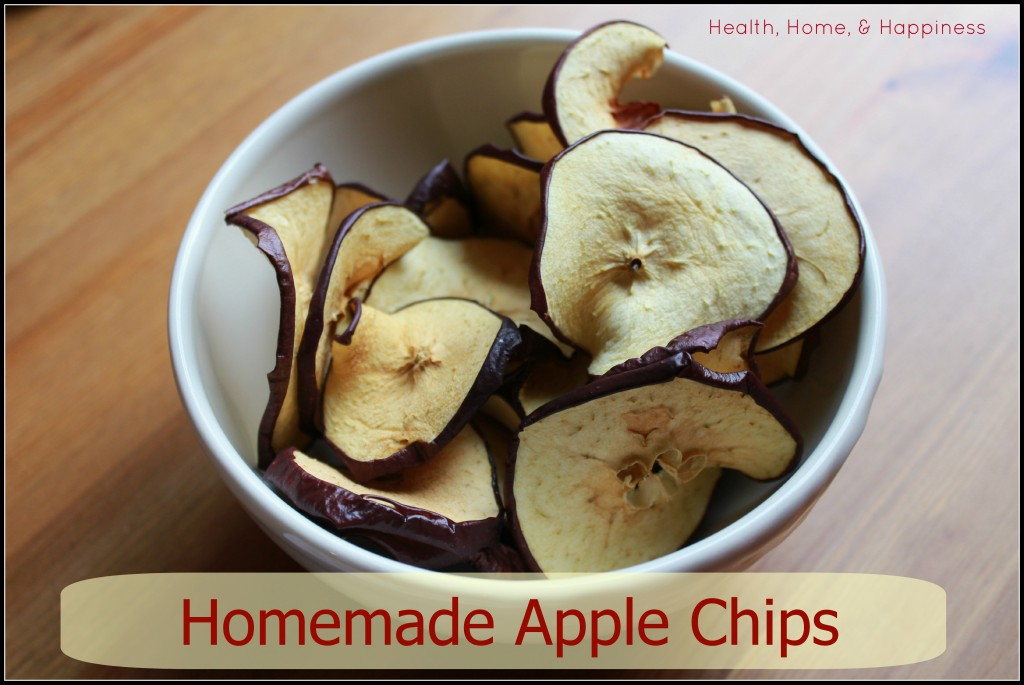 Homemade Apple Chips - Health, Home, & Happiness
