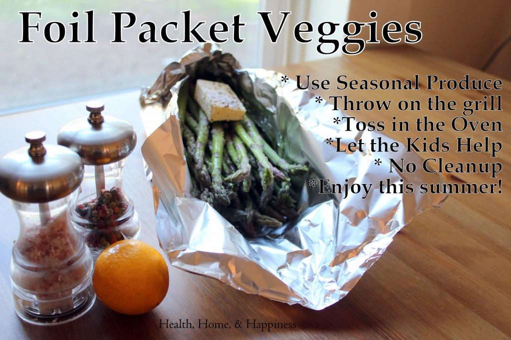 Veggie packet veggies - seasonal and easy!