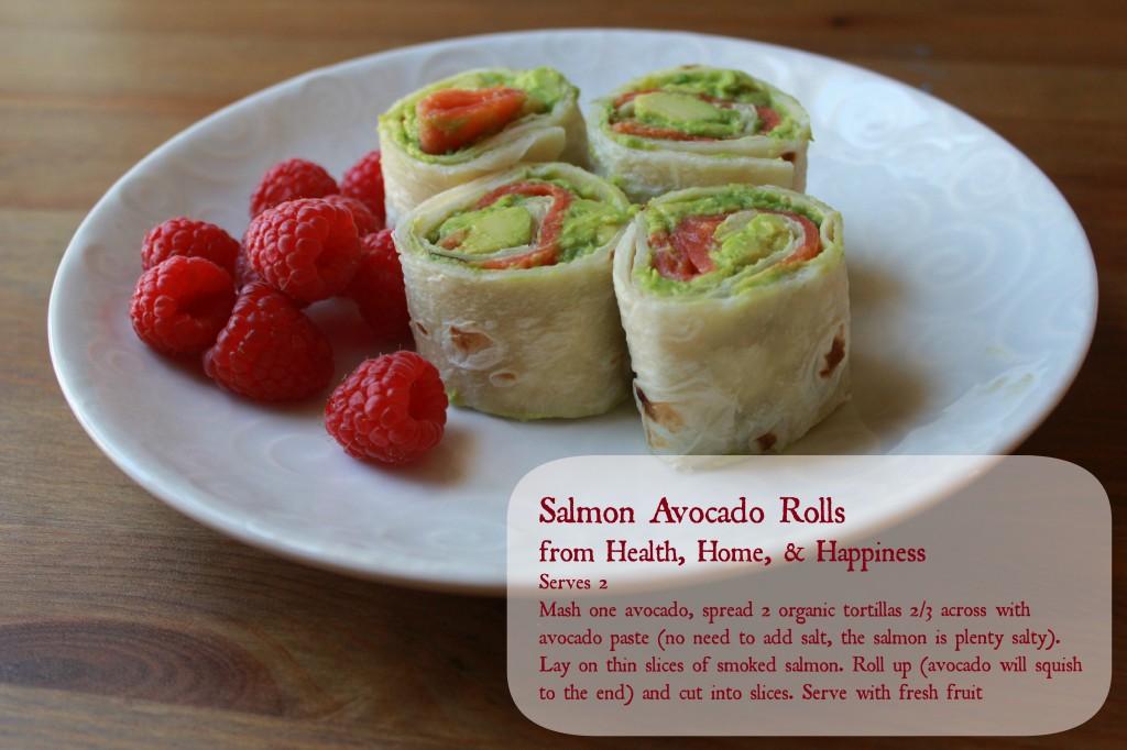 Salmon avocado rolls