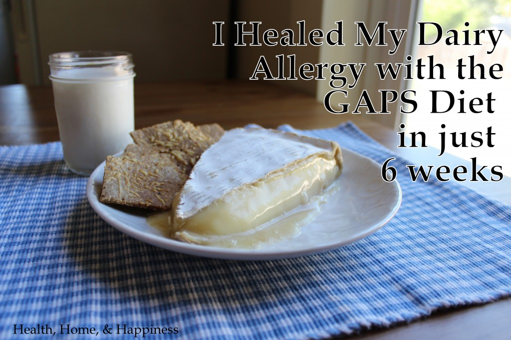 dairy allergy gaps diet