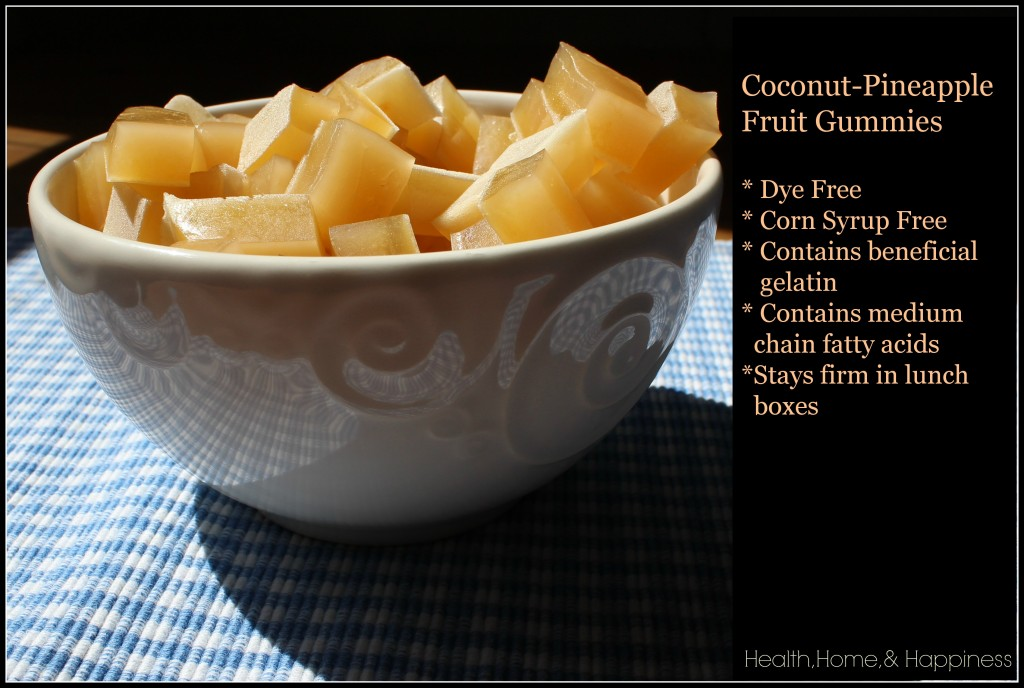 Coconut Pineapple Gummies All Natural Homemade Health