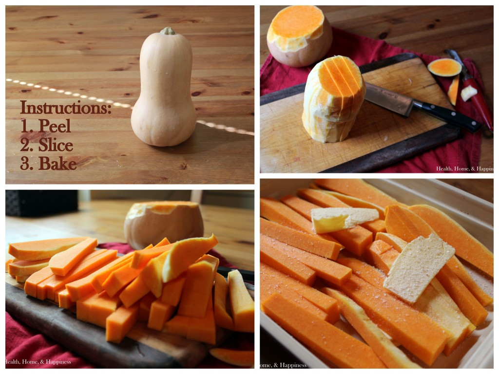 Butternut Squash Fries Instructions