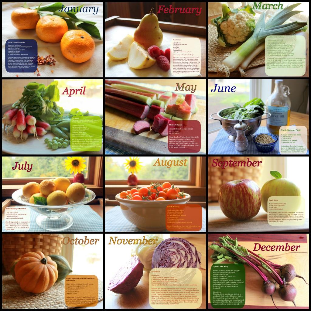 HHH 2014 Calendar Grain Free GAPS Friendly Recipes on Each Page!