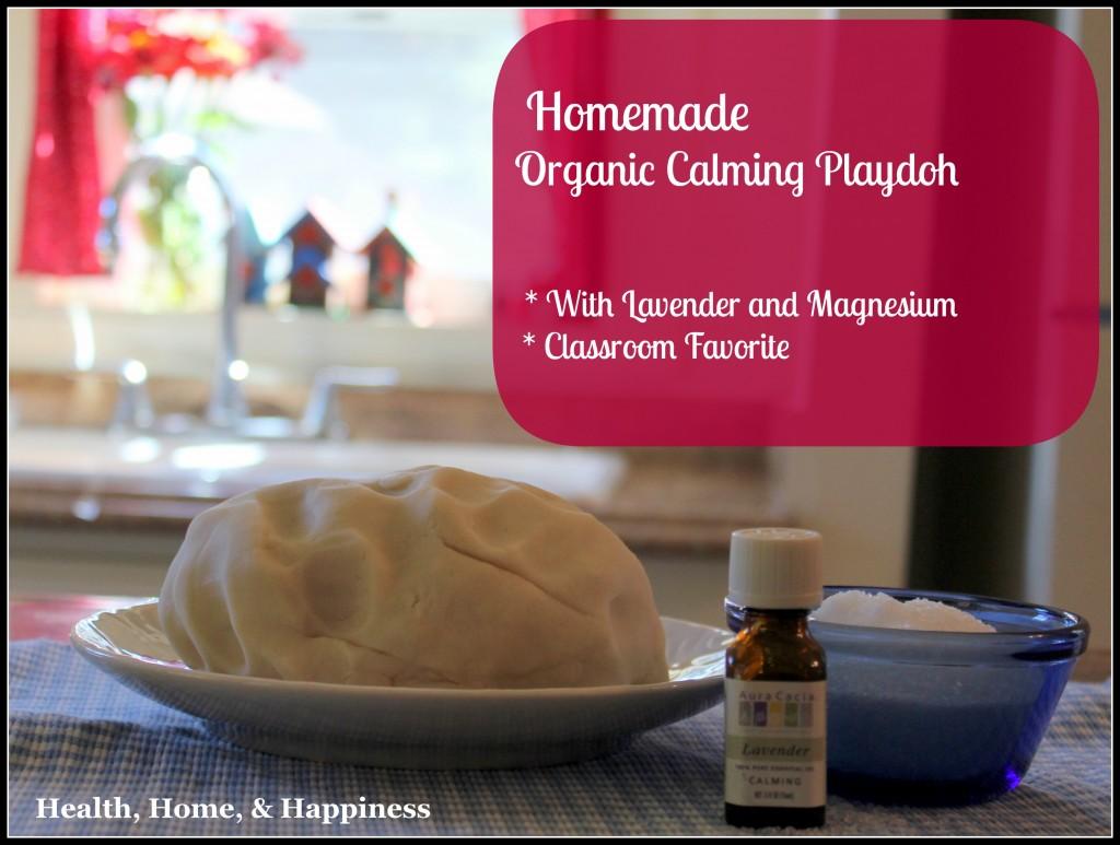 Homemade Organic Calming Playdoh - Classroom favorite 2