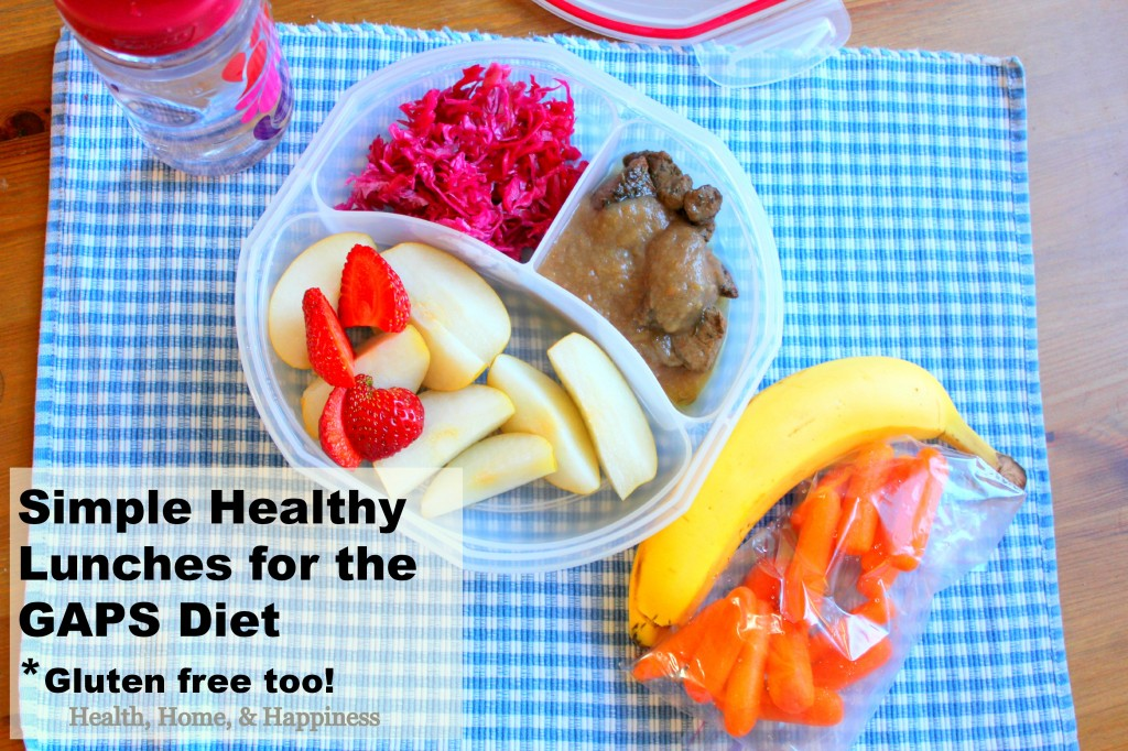 Simple Healthy Lunches for the GAPS diet - gluten free too