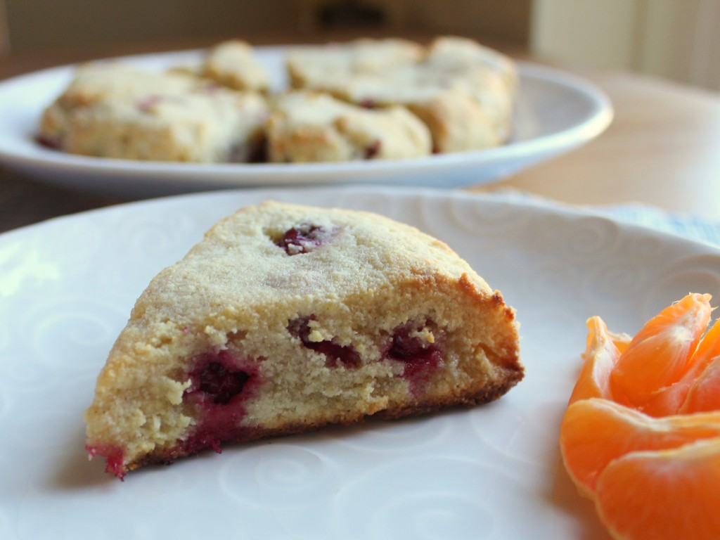 Cranberry Ginger Almond Flour Scones