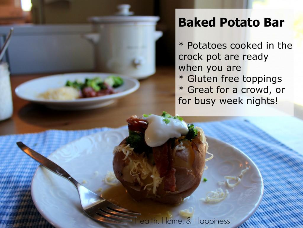 Crockpot Baked Potato Bar - gluten free, easy