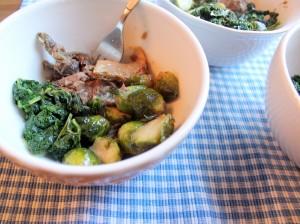 Petes Paleo Brisket Kale and Brussels