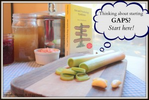 Thanking about starting an allergy elimination diet or the GAPS diet