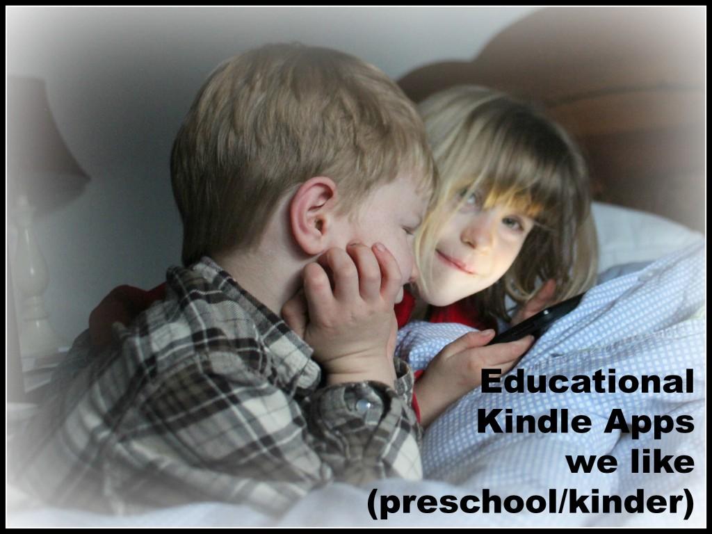favorite educational preschool kinder Kindle Apps
