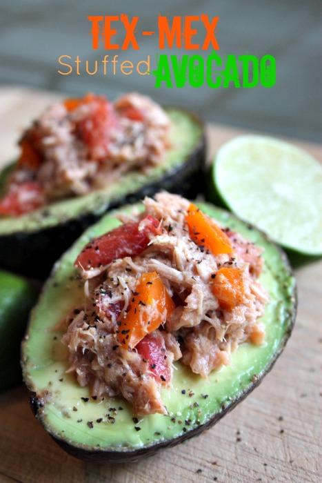 Tex-Mex Tuna Stuffed Avocado - Paleo, GAPS from Health, Home & Happy.jpg