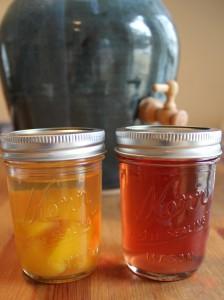 kombucha second ferment in a mason jar