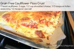 Caulifower pizza  recipe