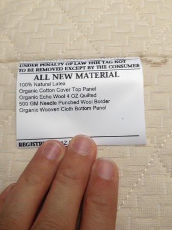 natural latex mattress tag - yes - mattress shopping is confusing...