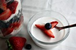 GAPS & Paleo Coconut Pudding with Strawberries & Blueberries -