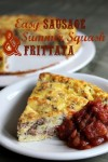 Easy Sausage & Summer Squash Frittata - GAPS, Paleo & Primal from Health, Home & Happy