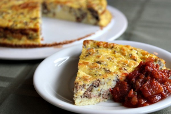 Easy Sausage & Summer Squash Frittata - from Healthy, Home & Happy