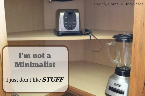 Minimalism - Health Home and Happiness Style