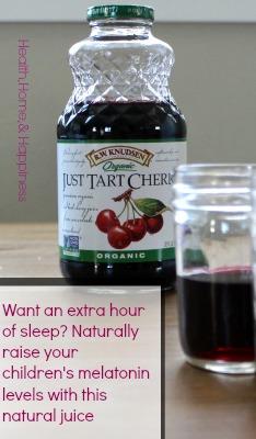 Tart Cherry Juice To Help Kids And Toddlers Sleep Naturally Raises Melatonin Levels Health Home Happiness