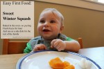 Easy winter squash bake for baby - the seeds are way easier to scoop AFTER baking - awesome