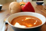 Roasted pepper and Butternut Squash with Heavy Cream