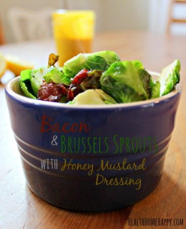 Bacon and Brussels with Honey Mustard Dressing - GAPS & Paleo, from Health, Home & Happiness