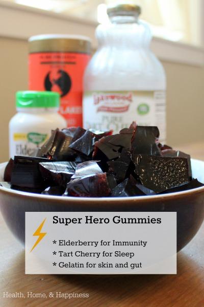 Elderberry Tart Cherry SUPERHERO Gummies for Sleep and Immunity