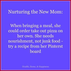 Meal help for the new mom