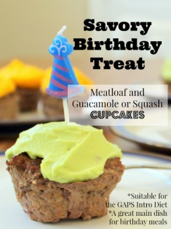 GAPS Intro Guacamole or squash and Meat Cupcakes