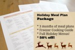 Holiday meal plan package