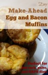 Easy make ahead bacon and egg muffins - paleo and GAPS