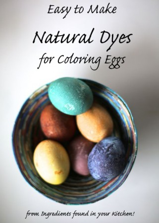 Natural Dyes for Easter Eggs (easy and kid friendly!)