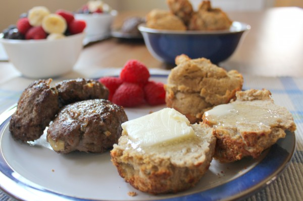 Banana Nut Muffins made with coconut flour