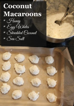 Coconut Macaroons before baking
