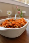 Warm Carrot Salad with Walnuts and Raisins