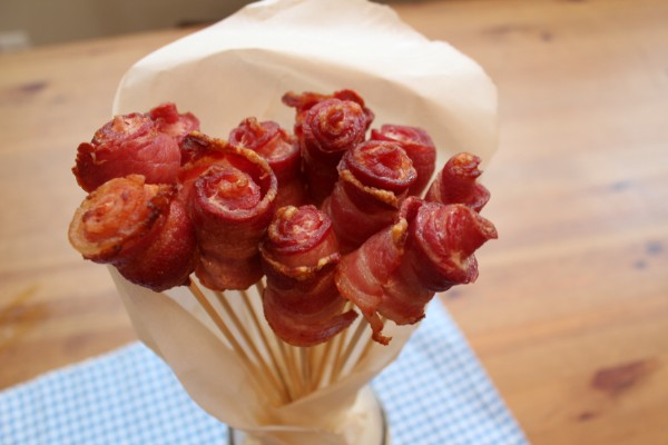 DIY Bacon Roses